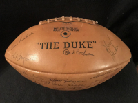 1962 Green Bay Packers World Championship Team Signed Football by (42) with Lombardi, Starr, Adderly, Hornung at PristineAuction.com