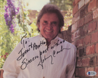 """Johnny Cash Signed 8x10 Photo Inscribed """"Sincere Best Wishes!"""" (Beckett COA) at PristineAuction.com"""