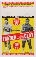 "Muhammad Ali ""AKA Cassius Clay"" & Joe Frazier Signed ""Fight of the Century"" 14x22 Original 1971 Fight Poster (JSA ALOA) at PristineAuction.com"