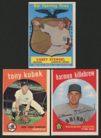 Lot of (3) 1959 Topps Baseball Cards with Harmon Killebrew #515, Tony Kubek #505, & Casey Stengel #552 / All-Star Manager at PristineAuction.com