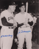 Joe DiMaggio & Bill Terry Signed 8x10 Photo (JSA ALOA) at PristineAuction.com