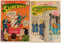 "Lot of (2) 1956-1957 ""Superman"" 1st Series Action Comics DC Comic Books at PristineAuction.com"
