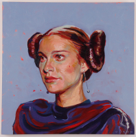 "Brianna Voron Signed ""Padme Amidala"" 12x12 Original Oil Panting on Panel (PA LOA) at PristineAuction.com"