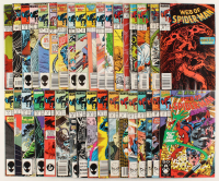 "Lot of (35) 1985-1995 ""Web Of Spider-Man"" 1st Series Marvel Comic Books at PristineAuction.com"