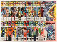 "Lot of (40) 1987-1990 ""Web Of Spider-Man"" 1st Series Marvel Comic Books at PristineAuction.com"