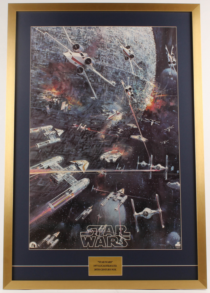 1977 Original Promotional Star Wars Episode Iv A New Hope 27x40 Custom Framed Movie Poster Pristine Auction