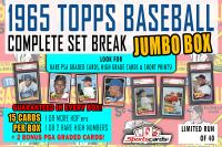 1965 Topps Baseball Complete Set Break JUMBO Mystery BOX – 15 Cards Per Box! at PristineAuction.com