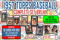 1957 Topps Baseball Complete Set Break Mystery BOX – 10 Cards Per Box! at PristineAuction.com