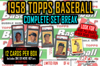1958 Topps Baseball Complete Set Break Mystery BOX – 12 Cards Per Box! at PristineAuction.com