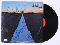 "Judas Priest ""Point of Entry"" Vinyl Record Album Band-Signed by (4) with Rob Halford, Ian Hill, K. K. Downing & Glenn Tipton (JSA COA) at PristineAuction.com"