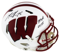 "Melvin Gordon Signed Wisconsin Badgers Full-Size Authentic On-Field Speed Helmet Inscribed ""5143 yds"" & ""49 TDS"" (Radtke COA) at PristineAuction.com"