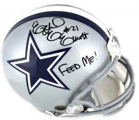 "Ezekiel Elliott Signed Dallas Cowboys Full-Size Authentic On-Field Helmet Inscribed ""Feed Me!"" (Beckett COA) at PristineAuction.com"