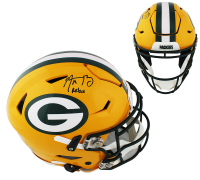 """Aaron Rodgers Signed Packers Full-Size Authentic On-Field SpeedFlex Helmet Inscribed """"Relax"""" (Fanatics Hologram) at PristineAuction.com"""