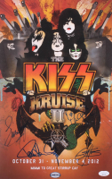 """Kiss """"Kiss Kruise II"""" 1x17 Poster Band-Signed by (4) with Gene Simmons, Paul Stanley, Eric Singer & Tommy Thayer (JSA LOA) at PristineAuction.com"""