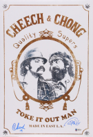 """Cheech Marin & Tommy Chong Signed 12x18 Photo Inscribed """"19"""" (Beckett COA) at PristineAuction.com"""