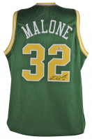"Karl ""Mailman"" Malone Signed Jersey (Beckett COA) at PristineAuction.com"