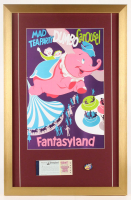 "Disneyland Fantasyland's ""Dumbo Carousel"" 17x26 Custom Framed Poster Print Display with Vintage Ticket & Pin at PristineAuction.com"