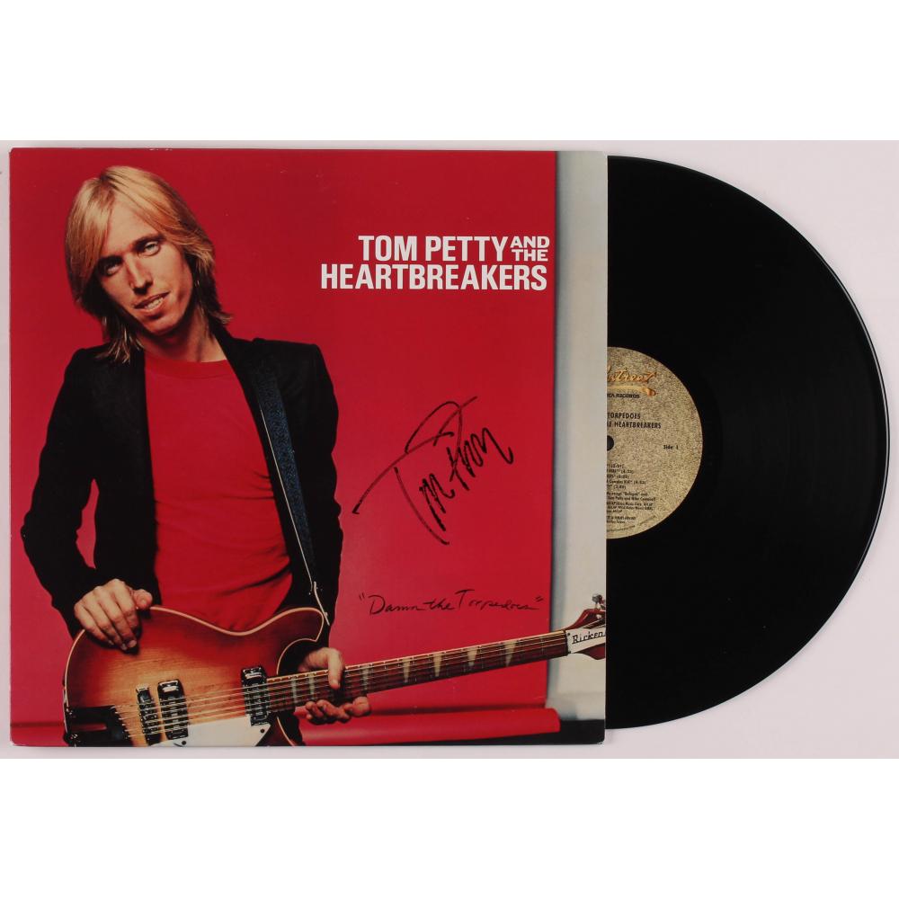 Tom Petty Signed Damn The Torpedoes Vinyl Record Album Cover Jsa Aloa Pristine Auction