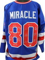 "1980 ""Miracle on Ice"" Hockey Jersey Team-Signed by (17) with Jim Craig, Craig Patrick, Neal Broten, Dave Christian, Steve Christoff, Mike Eruzione (JSA COA) at PristineAuction.com"