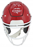 "Travis Kelce Signed Chiefs Full-Size Authentic On-Field SpeedFlex Helmet Inscribed ""Chiefs Kingdom!"" (Beckett COA) at PristineAuction.com"