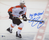 "Chris Pronger Signed Flyers 8x10 Photo Inscribed ""All The Best!"" (Beckett COA) at PristineAuction.com"