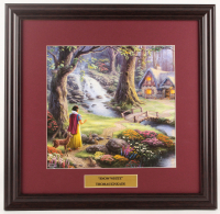 "Thomas Kinkade Walt Disney's ""Snow White & the Seven Dwarfs"" 18x18.5 Custom Framed Print Display at PristineAuction.com"