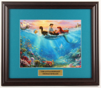 "Thomas Kinkade Walt Disney's ""The Little Mermaid"" 16x18.5 Custom Framed Print Display at PristineAuction.com"