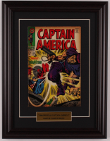 "Vintage 1968 ""Captain America"" Issue #108 Marvel 13.5x17.5 Custom Framed Comic Book Display at PristineAuction.com"