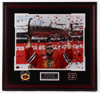 Scott Darling Signed Blackhawks 25.5x27.5 Custom Framed Photo Display (Darling COA) at PristineAuction.com