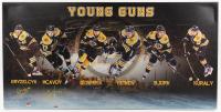 Charlie McAvoy & Matt Grzelcyk Signed Bruins 19x39 Photo On Canvas (YSMS COA & McAvoy Hologram) at PristineAuction.com