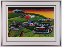 """The Stable"" LE 22x31Custom Framed Photo Signed by (6) Dale Earnhardt Sr., Dale Earnhardt Jr., Kelly Earnhardt, Kerry Earnahrdt (JSA ALOA) at PristineAuction.com"