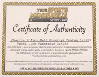 Charlie McAvoy & Matt Grzelcyk Signed Bruins 19.5x39 Photo On Canvas (Your Sports Memorabilia Store COA & McAvoy Hologram) at PristineAuction.com