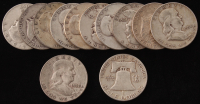 Lot of (12) 1951-63 Franklin Silver Half Dollars at PristineAuction.com