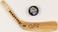 Dylan Strome Signed Lot of (2) Hockey Items With 2015 Draft Logo Hockey Puck & Hockey Stick Blade (Your Sports Memorabilia Store COA) at PristineAuction.com