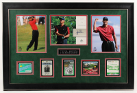 Tiger Woods 2004 SP Signature Signs of a Champion 8x10 #TW2 23.5x35.5 Custom Framed 8x10 Card Display with Masters Ticket Passes at PristineAuction.com