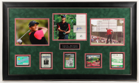 Tiger Woods 2004 SP Signature Signs of a Champion 8x10 #TW2 23x29 Custom Framed Masters Golf Ticket Badge Display at PristineAuction.com