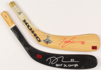 Lot of (2) Signed Hockey Stick Blades With Teuvo Teravainen & Trevor Van Riemsdyk (Van Riemsdyk COA & Teravainen COA) at PristineAuction.com