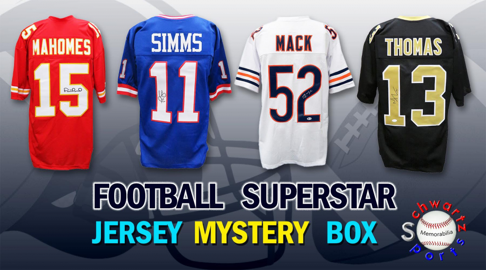 Schwartz Sports Football Superstar Signed Mystery Box Football Jersey - Series 24 - (Limited to 100) at PristineAuction.com
