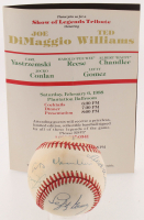 Lot of (3) Baseball Items with (1) OAL Baseball Signed by (13) with Joe DiMaggio, Carl Yastrzemski, Ted Williams, Pee Wee Reese with Itinerary & Letter of Invitation (Beckett LOA) at PristineAuction.com