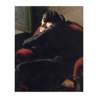"""Fabian Perez Signed """"Rojo Sillon"""" Hand Textured Limited Edition 25x13 Giclee on Board AP #11/30 at PristineAuction.com"""