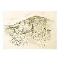 "Wayne Ensrud Signed ""Julienas in Beaujolais, France"" 15x18 Pencil Original Artwork at PristineAuction.com"