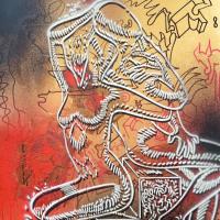 "Mark Kostabi Signed ""Passion Beyond The Void"" 30x22 Original Artwork at PristineAuction.com"