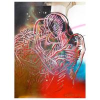 """Mark Kostabi Signed """"Shanghai Dreams"""" 30x22 Original Artwork at PristineAuction.com"""