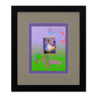 "Peter Max Signed ""Profile"" 18x21 Custom Framed One-Of-A-Kind Acrylic Mixed Media at PristineAuction.com"