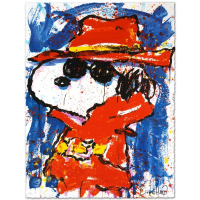 "Tom Everhart Signed ""Undercover in Hollywood"" Limited Edition 23x30 Hand Pulled Original Lithograph at PristineAuction.com"
