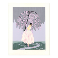 "Erte Signed ""Blossom Umbrella"" Limited Edition 23x29 Serigraph from an AP Edition at PristineAuction.com"