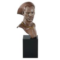 """Thomas Blackshear Signed """"Remembering"""" Limited Edition Mixed Media Sculpture on Marble Base #1250 at PristineAuction.com"""