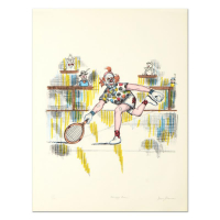 "George Crionas Signed ""Tennis Bum"" Hand Embellished Limited Edition 20x26 Lithograph at PristineAuction.com"