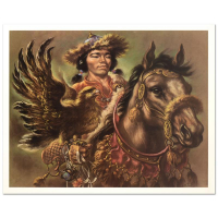 """Virginia Dan Signed """"Warrior"""" Limited Edition 30x24 Lithograph at PristineAuction.com"""