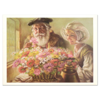 """Virginia Dan Signed """"Roses for Papa"""" Limited Edition 30x24 Lithograph (See Description) at PristineAuction.com"""
